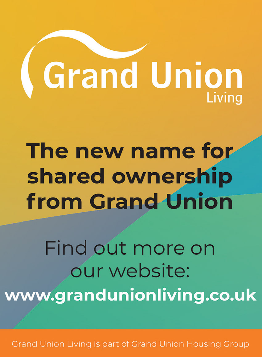 Grand Union living: multi-coloured advert