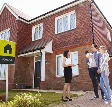 Family buying their new home through shared ownership
