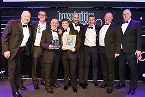 Cavanna Homes staff with best medium housebuilder in national industry awards