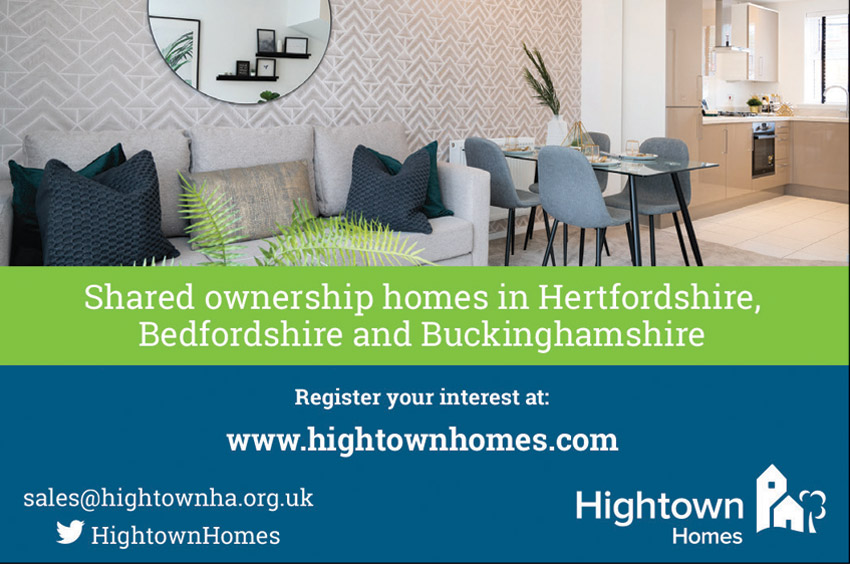 Hightown Homes green and blue advert