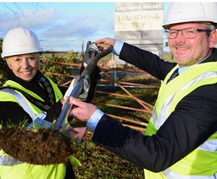 Mulberry Homes – the first sod is cut