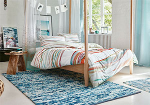 Blue Bedroom Rug