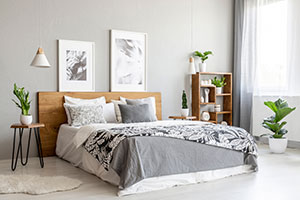 grey bedroom - interior trend predictions