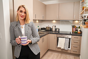 Maddy Smith in her new shared ownership home