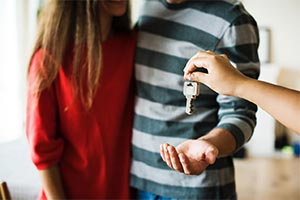 handing over keys for property purchases