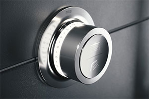 The shower head controlls for The Mira Mode Maxim digital shower